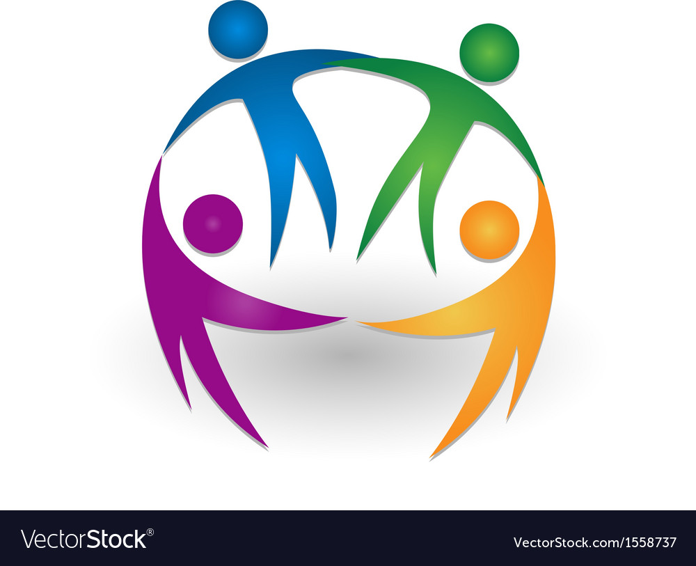 People together teamwork logo vector | Price: 1 Credit (USD $1)