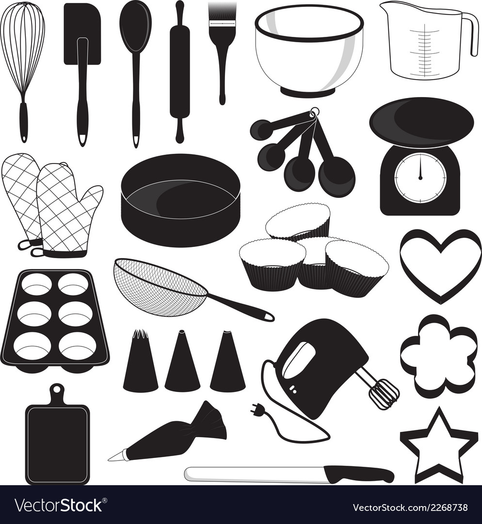 Baking tool icons set vector | Price: 1 Credit (USD $1)