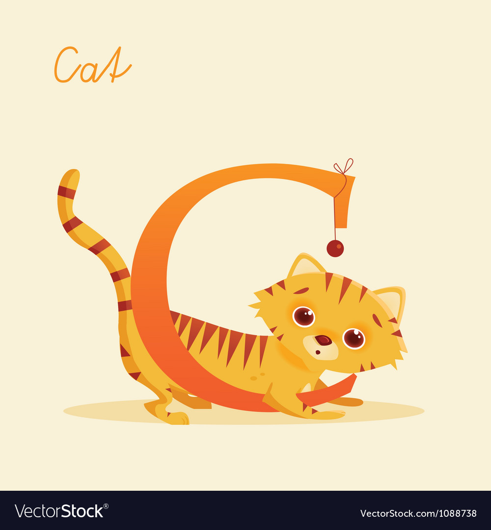 C for cat vector | Price: 1 Credit (USD $1)