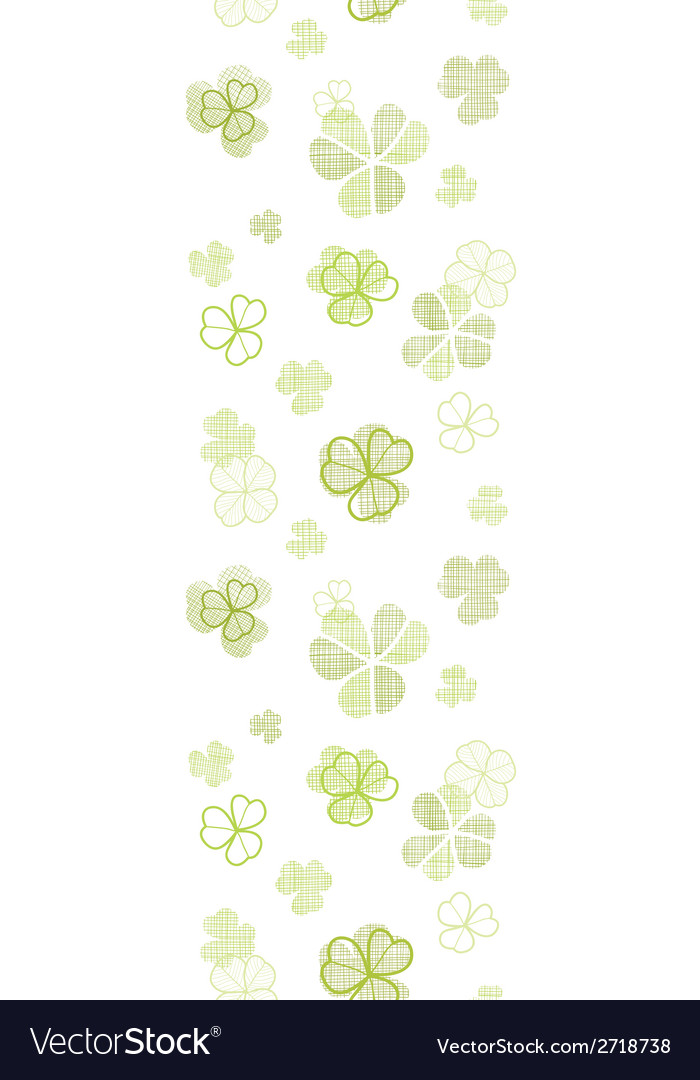 Clover textile textured line art vertical seamless vector | Price: 1 Credit (USD $1)