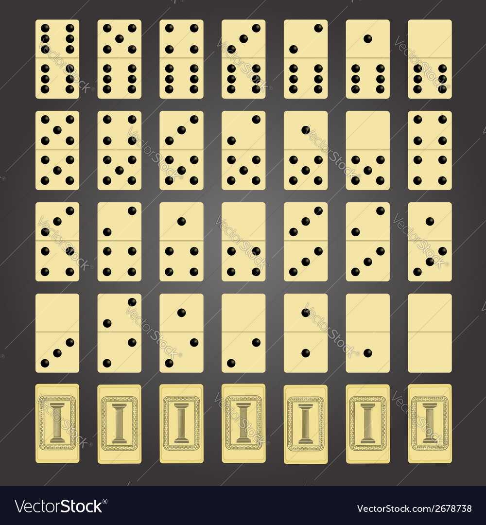 Domino game vector | Price: 1 Credit (USD $1)