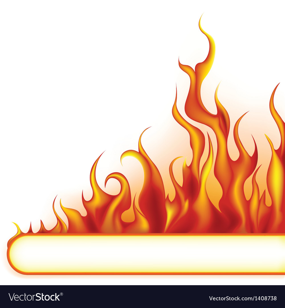 Fire banner vector | Price: 1 Credit (USD $1)
