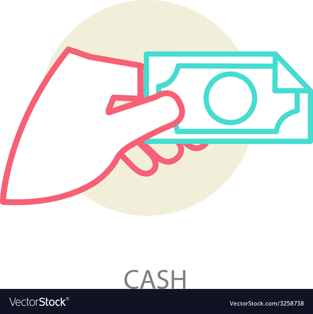 Hand holding a banknote vector | Price: 1 Credit (USD $1)