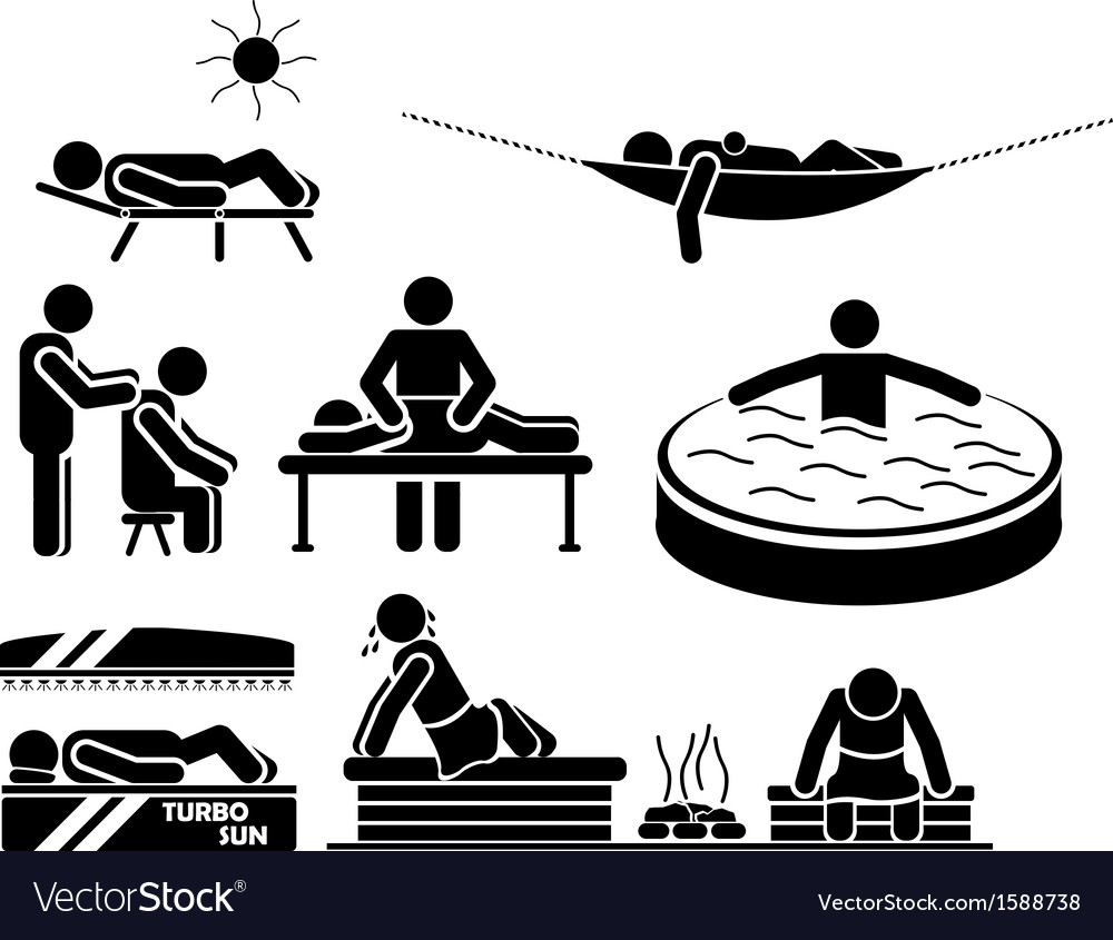 Icon men in relax vector | Price: 1 Credit (USD $1)
