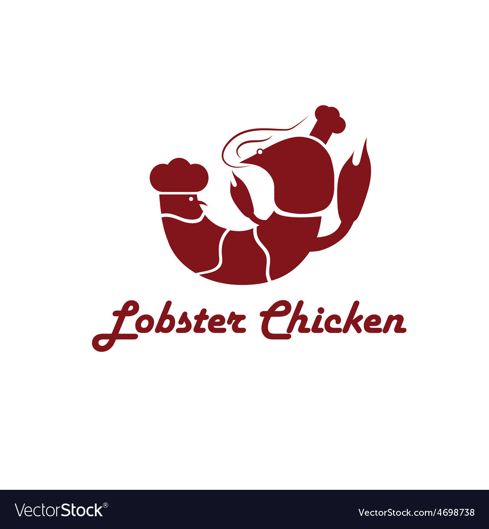 Lobster and chicken fast food restaurant concept vector | Price: 1 Credit (USD $1)