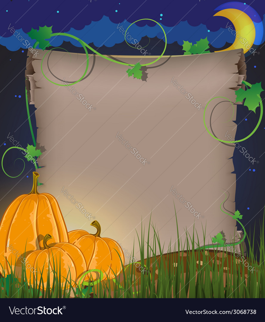 Pumpkins and parchment vector | Price: 1 Credit (USD $1)