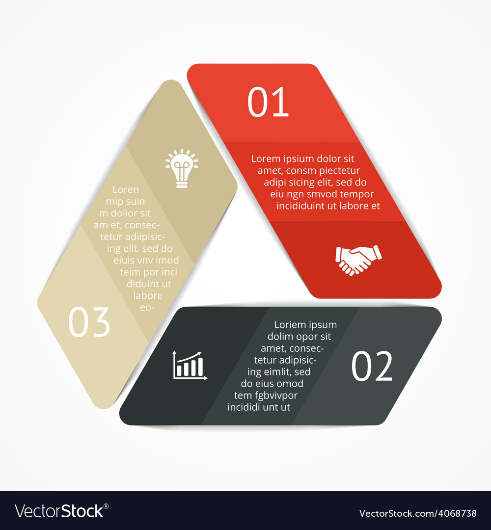 Triangle infographic diagram graph vector | Price: 1 Credit (USD $1)