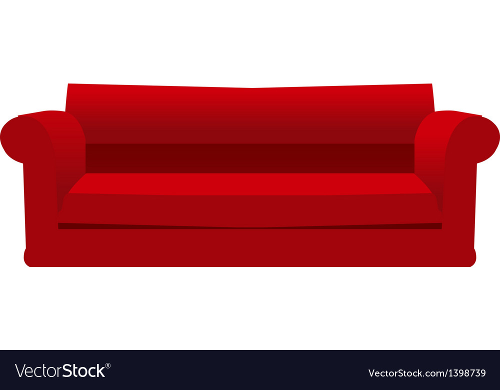A sofa is placed vector | Price: 1 Credit (USD $1)