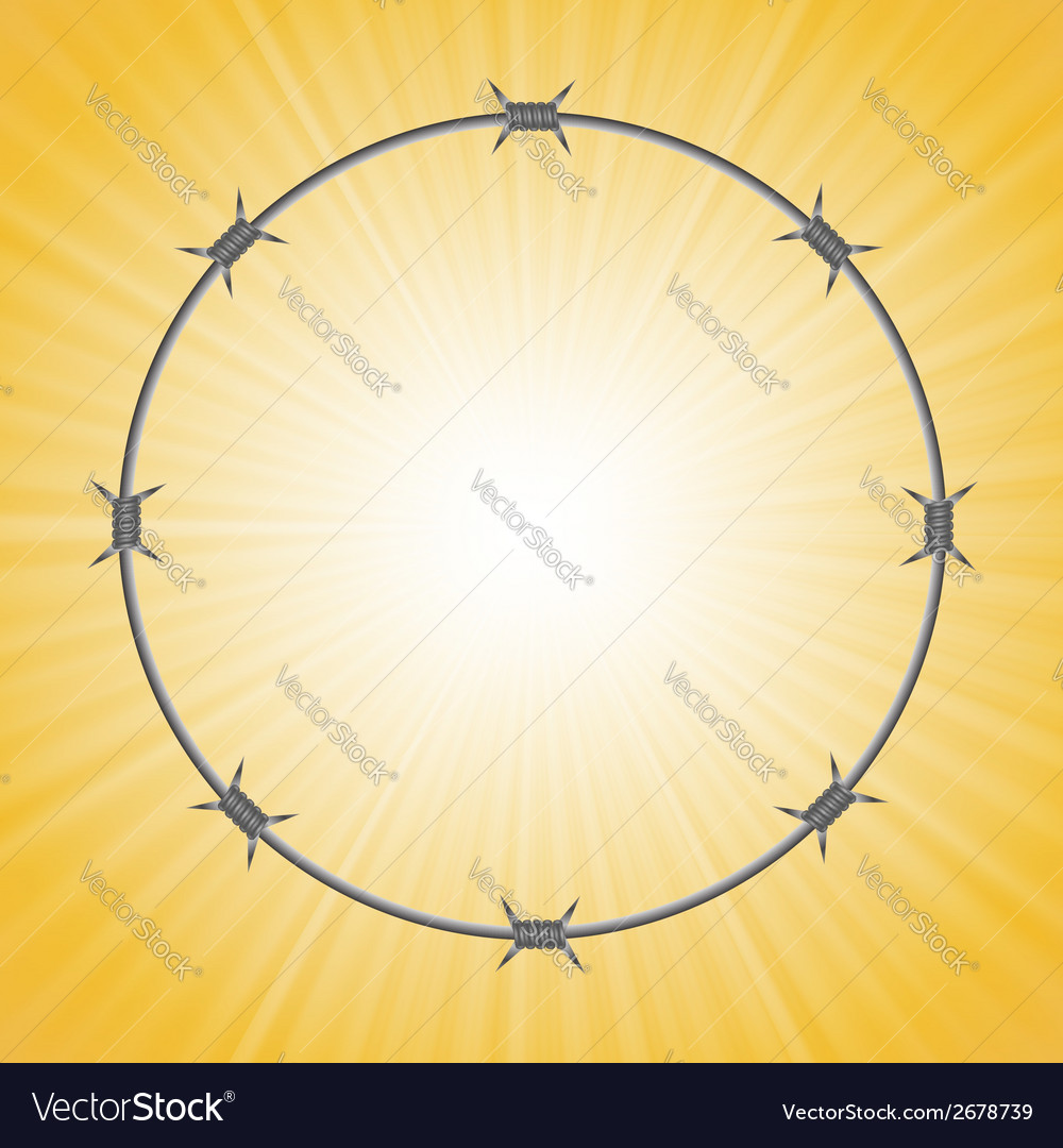 Barbed wire circle vector | Price: 1 Credit (USD $1)