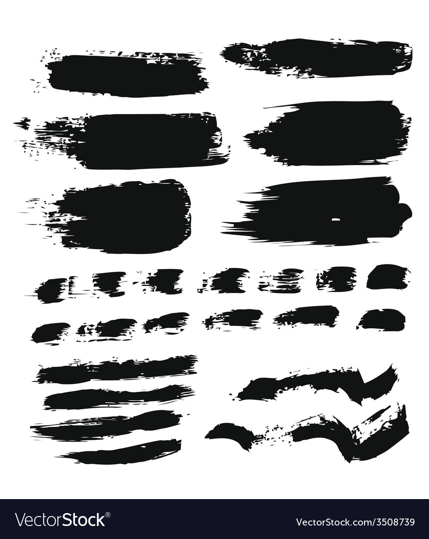 Brush strokes vector | Price: 1 Credit (USD $1)