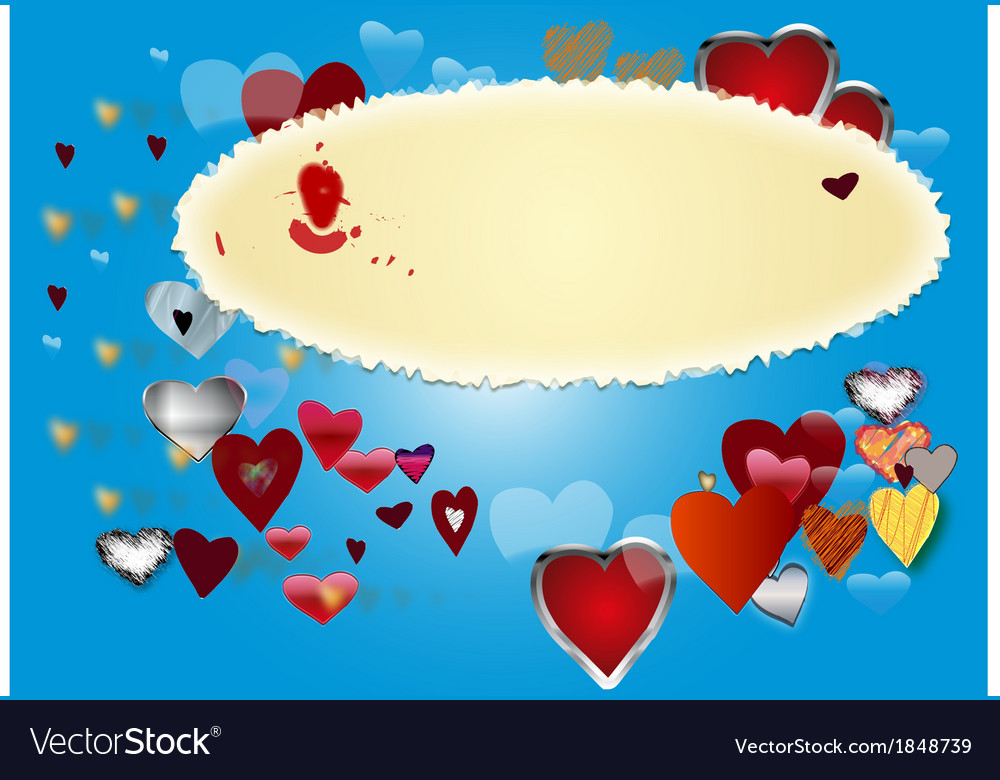 Card by st valentine s day 3 vector