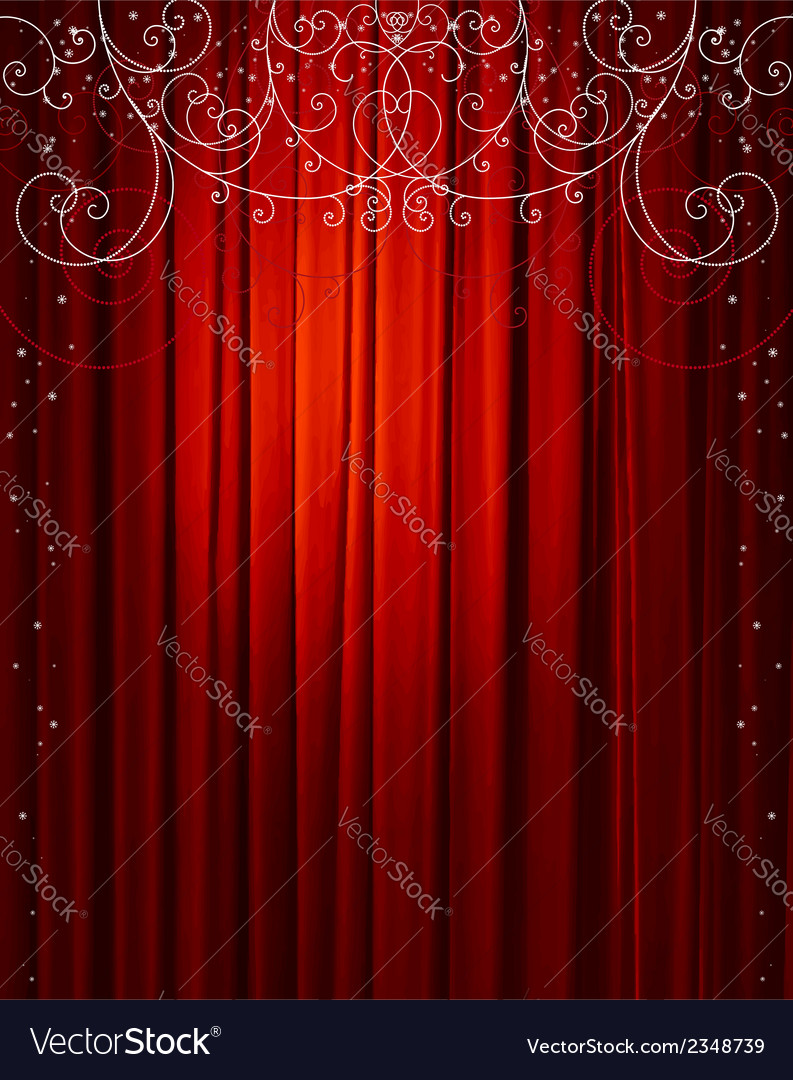 Christmas red curtain vector | Price: 1 Credit (USD $1)