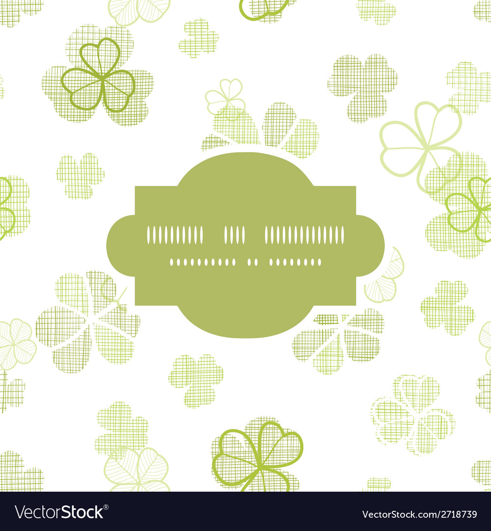 Clover textile textured line art frame seamless vector | Price: 1 Credit (USD $1)
