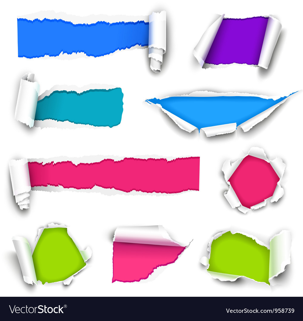 Color paper vector | Price: 1 Credit (USD $1)
