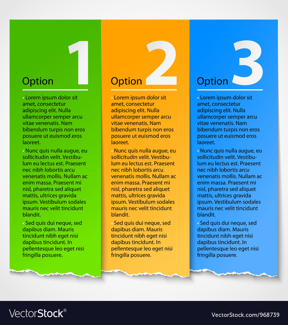 Colorful torn paper progress option label vector | Price: 1 Credit (USD $1)