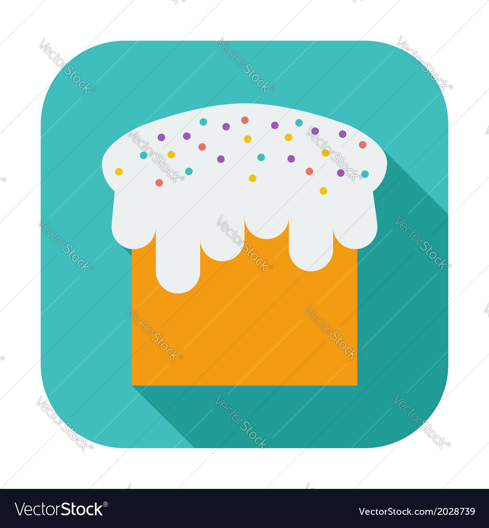 Easter cake single icon vector | Price: 1 Credit (USD $1)