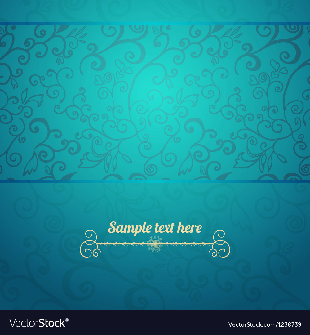 Excellent seamless floral pattern blue background vector | Price: 1 Credit (USD $1)