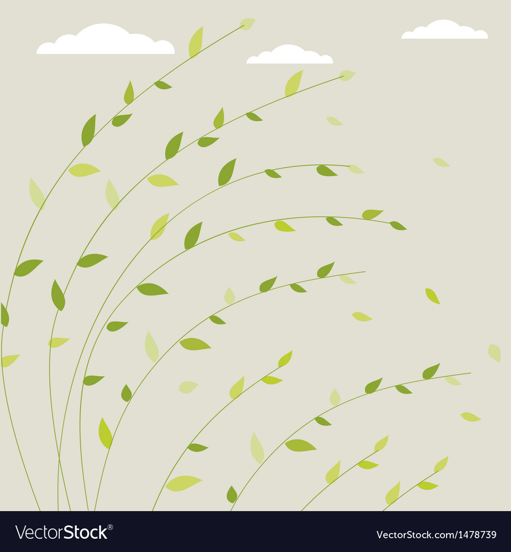 Fresh spring background with tree branches and vector | Price: 1 Credit (USD $1)