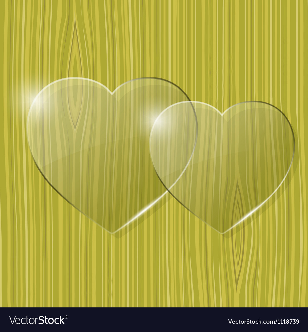 Glass hearts vector | Price: 1 Credit (USD $1)