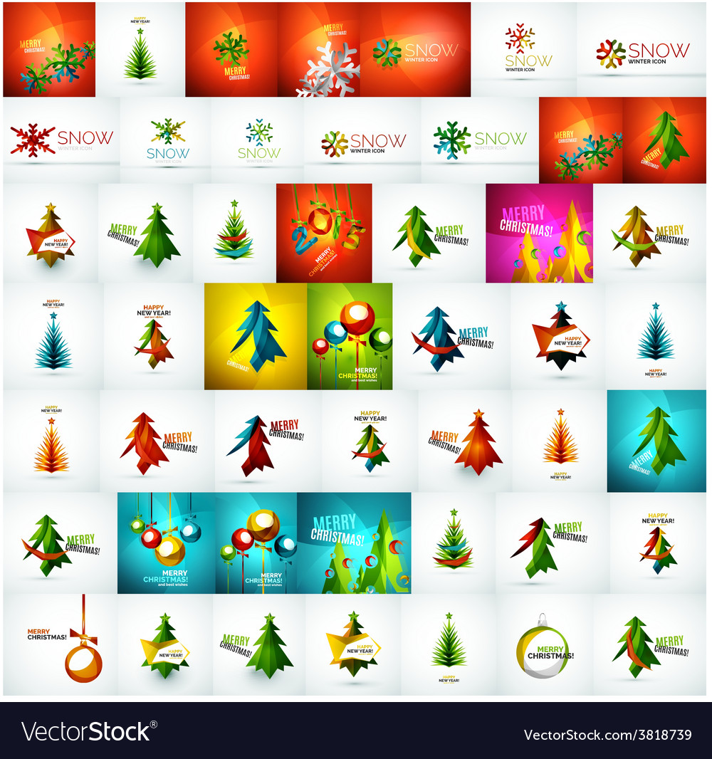 Large mega collection of christmas cards and vector | Price: 1 Credit (USD $1)