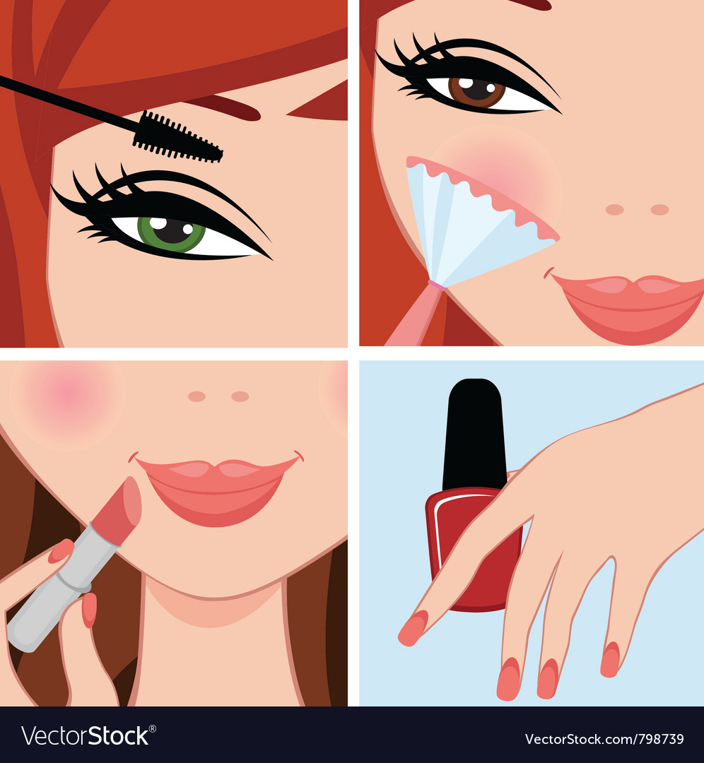 Make up set vector | Price: 3 Credit (USD $3)