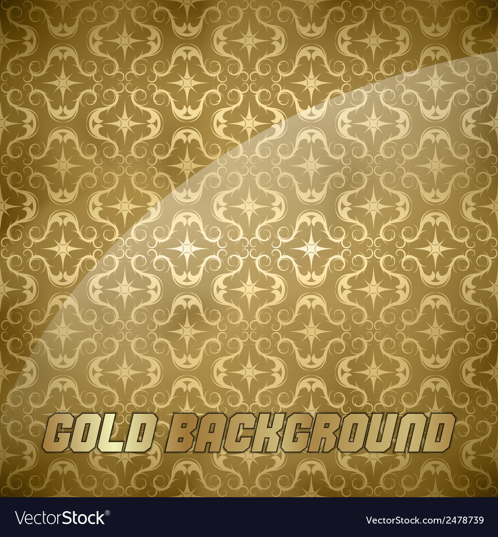 Ornaments background gold vector | Price: 1 Credit (USD $1)