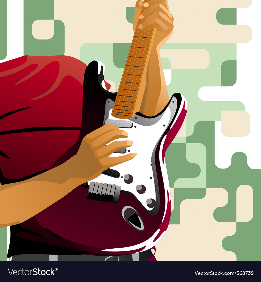 Playing guitar vector | Price: 1 Credit (USD $1)