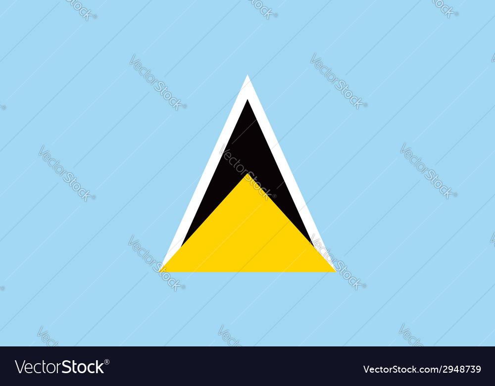 Saint lucia flag vector | Price: 1 Credit (USD $1)
