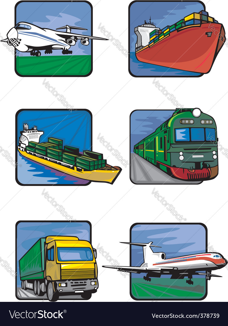 Six pictures of vehicles vector | Price: 1 Credit (USD $1)