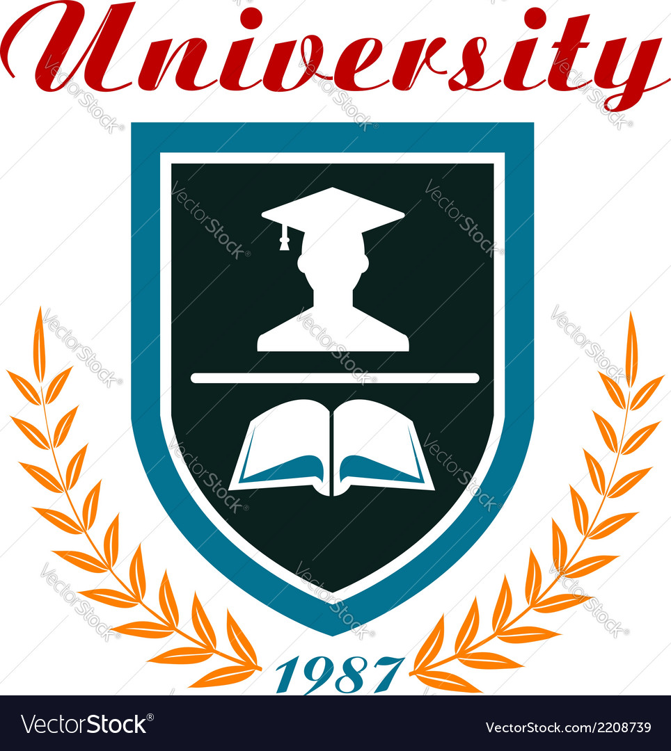University badge or emblem vector | Price: 1 Credit (USD $1)