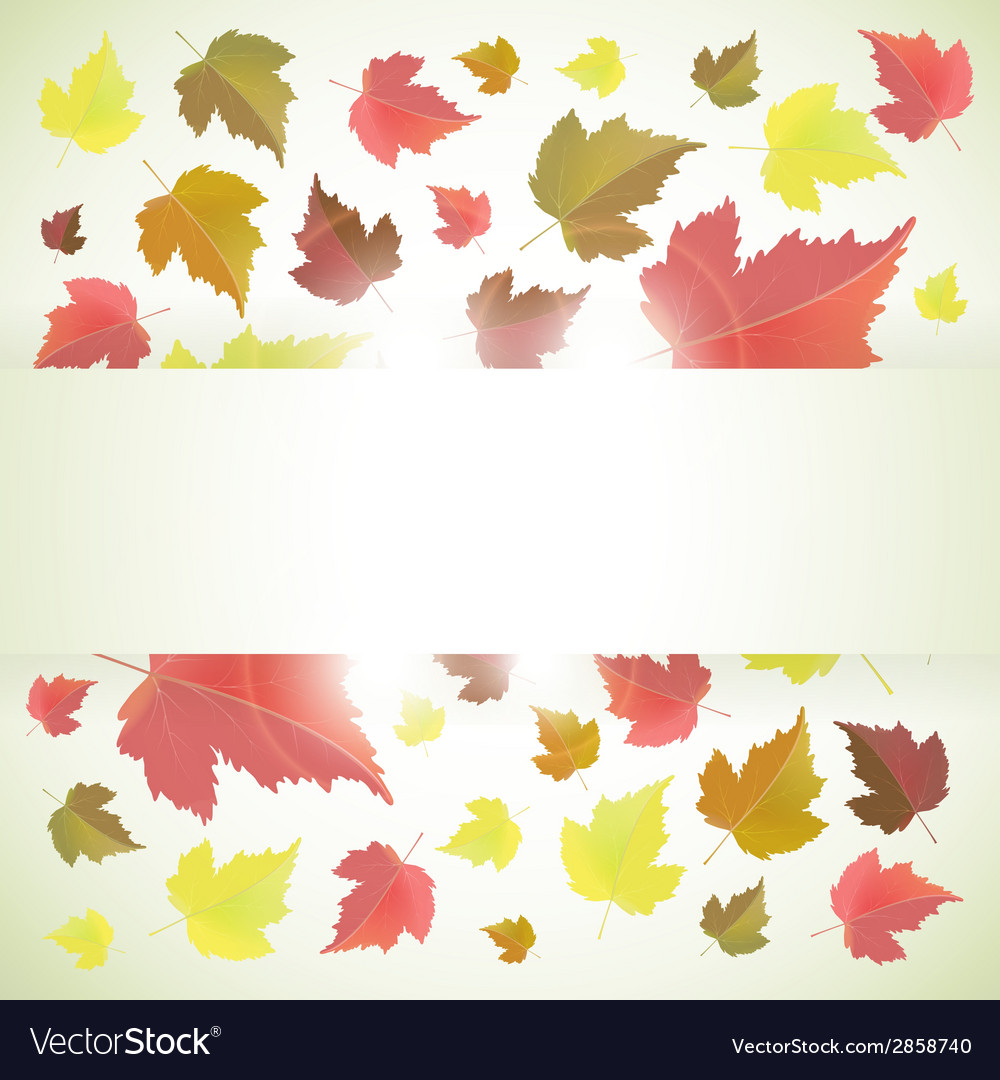 Autumn banner or background with leaves vector   Price: 1 Credit (USD $1)