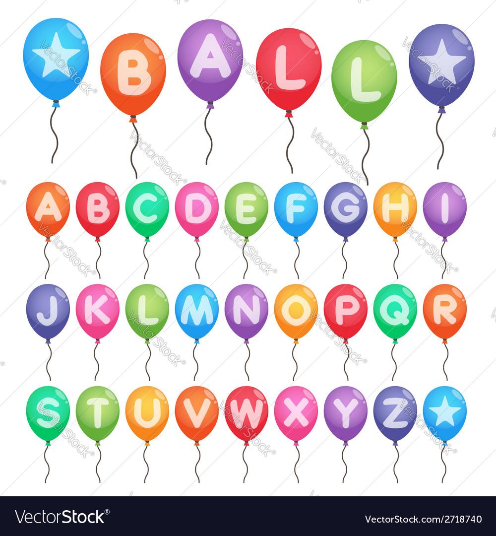 Balloon alphabet letters vector   Price: 1 Credit (USD $1)