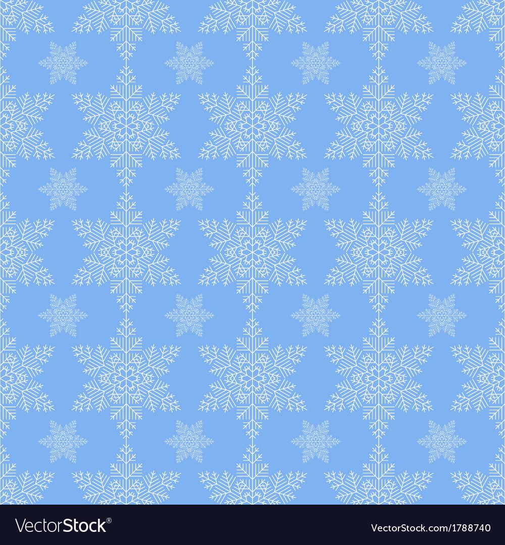 Blue snowflake seamless vector | Price: 1 Credit (USD $1)