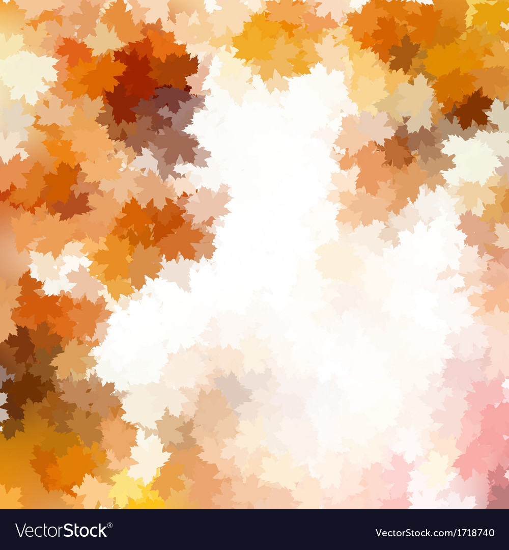 Colorful background of autumn leaves eps 10 vector | Price: 1 Credit (USD $1)