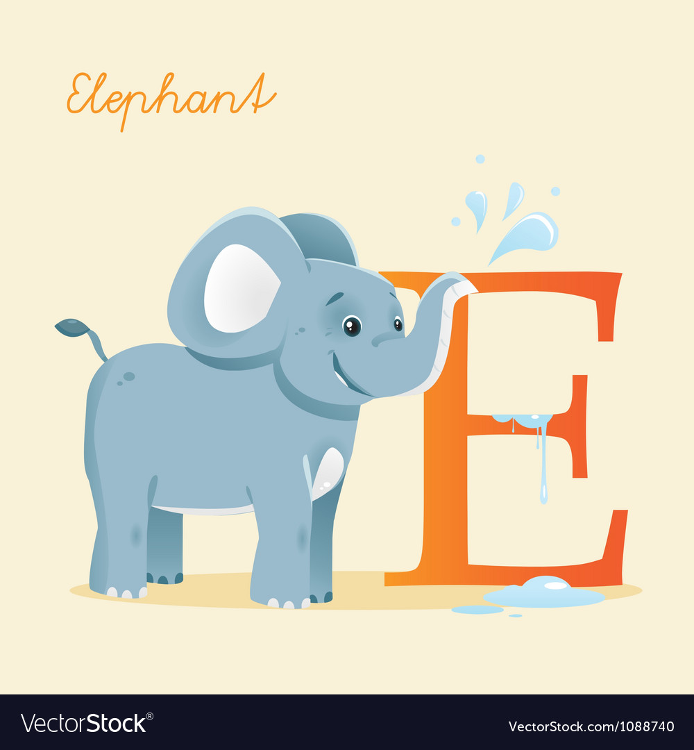 E for elephent vector | Price: 1 Credit (USD $1)