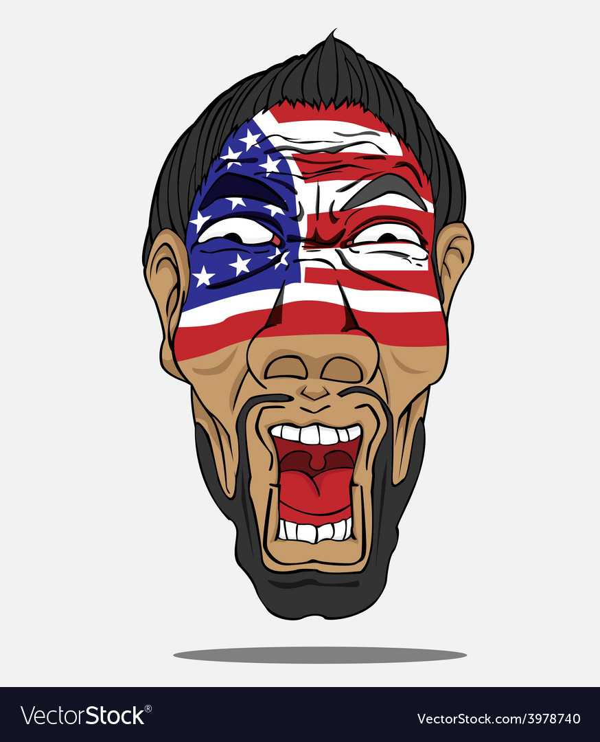 Football fan from usa vector   Price: 1 Credit (USD $1)
