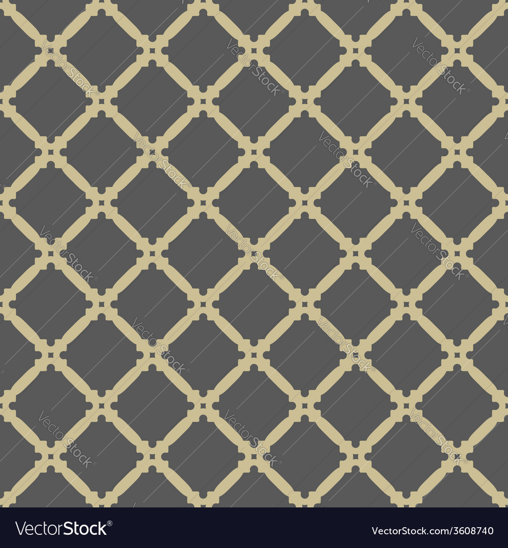 Geometric seamless abstract golden grill vector | Price: 1 Credit (USD $1)