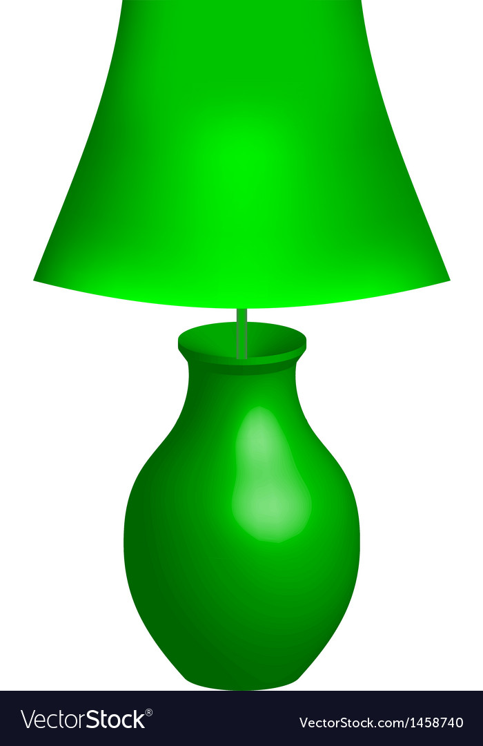 Green lamp vector | Price: 1 Credit (USD $1)