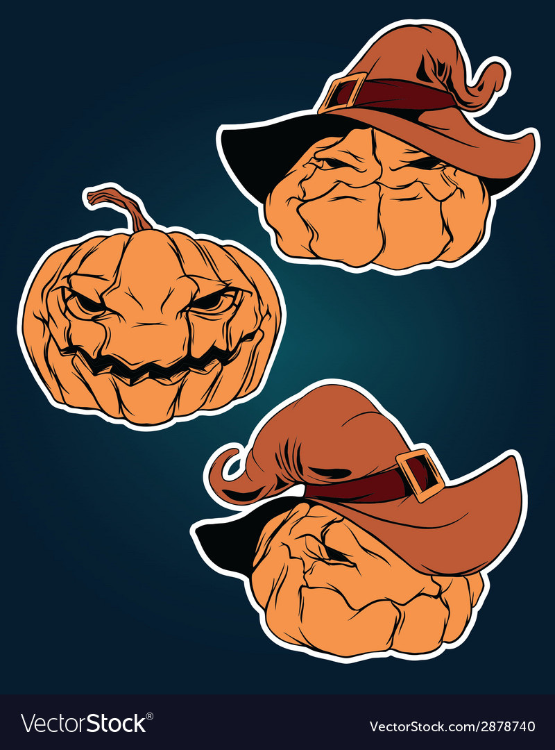Halloween stickers set vector | Price: 1 Credit (USD $1)