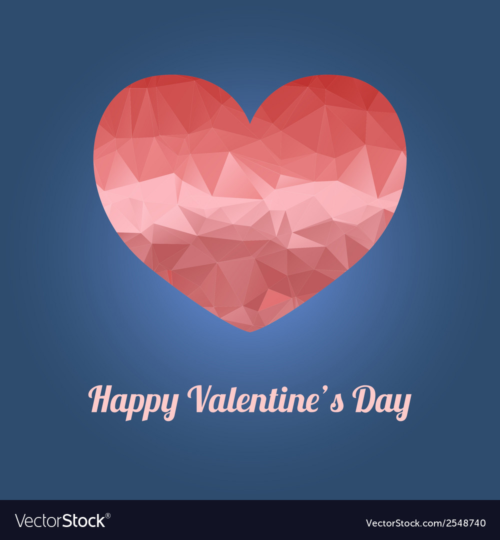 Happy valentines day greeting card with heart and vector | Price: 1 Credit (USD $1)