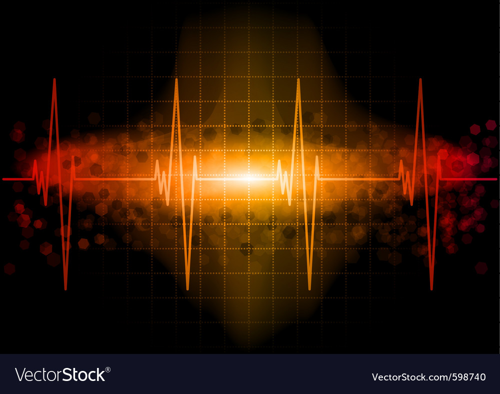 Heart beat monitor in the dark vector | Price: 1 Credit (USD $1)