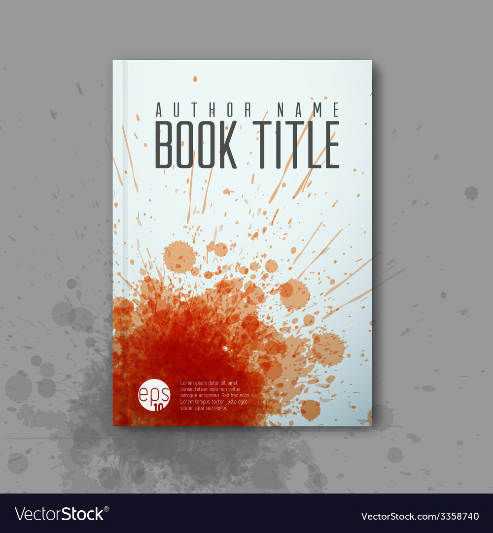 Modern abstractbook cover template vector | Price: 1 Credit (USD $1)