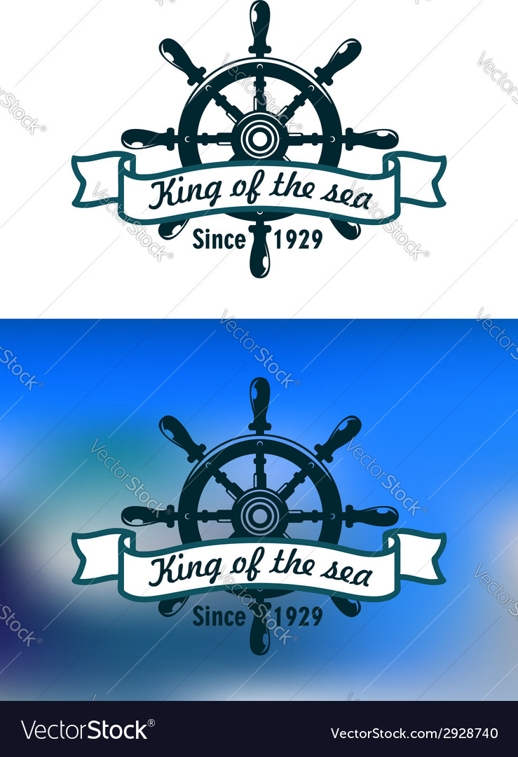 Nautical or marine vintage banner vector | Price: 1 Credit (USD $1)