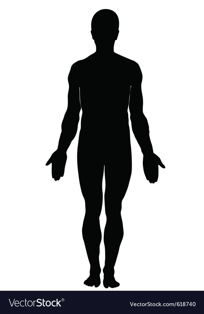 Silhouette of human male vector | Price: 1 Credit (USD $1)