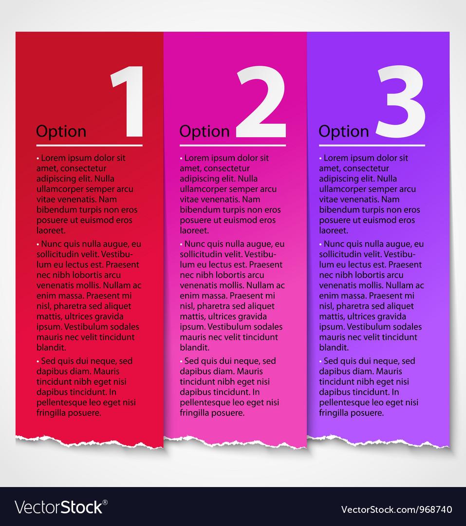Torn paper progress option label background vector | Price: 1 Credit (USD $1)