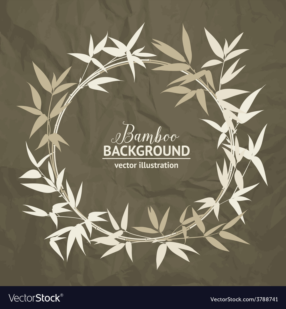 Bamboo decorative frame vector | Price: 1 Credit (USD $1)