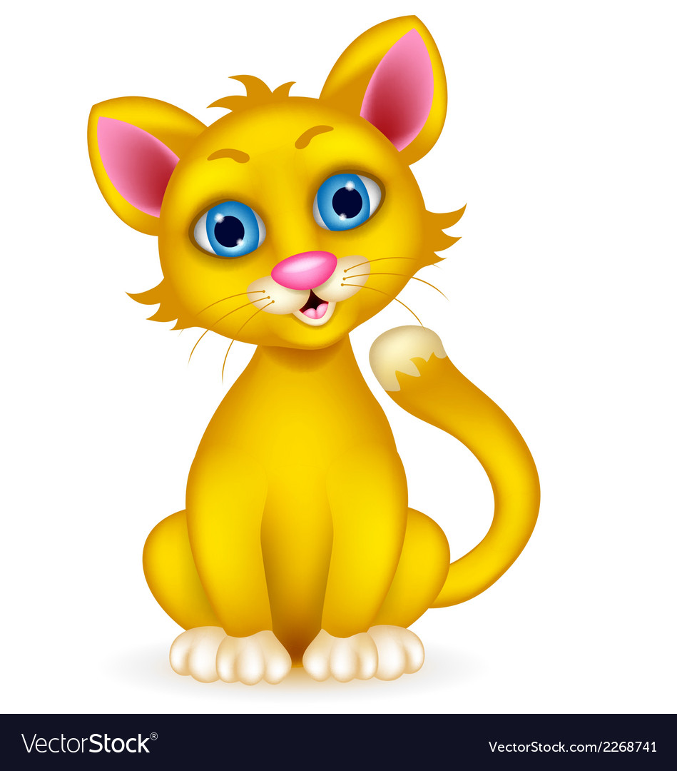 Cute cat cartoon vector | Price: 1 Credit (USD $1)