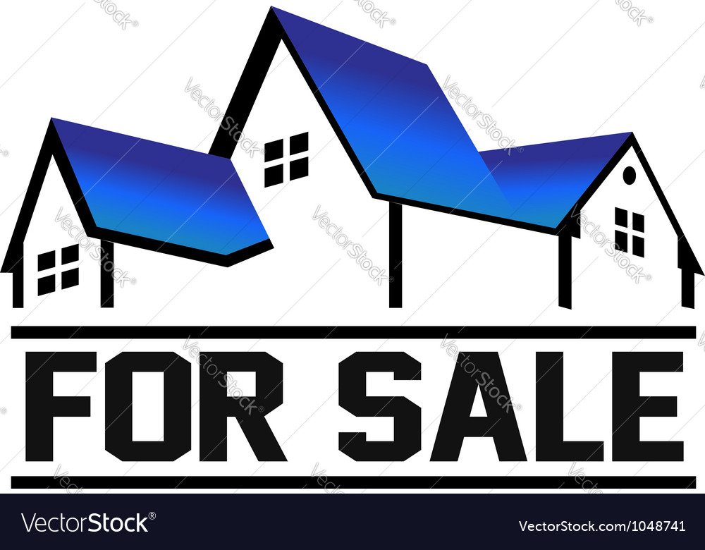 For sale house vector | Price: 1 Credit (USD $1)