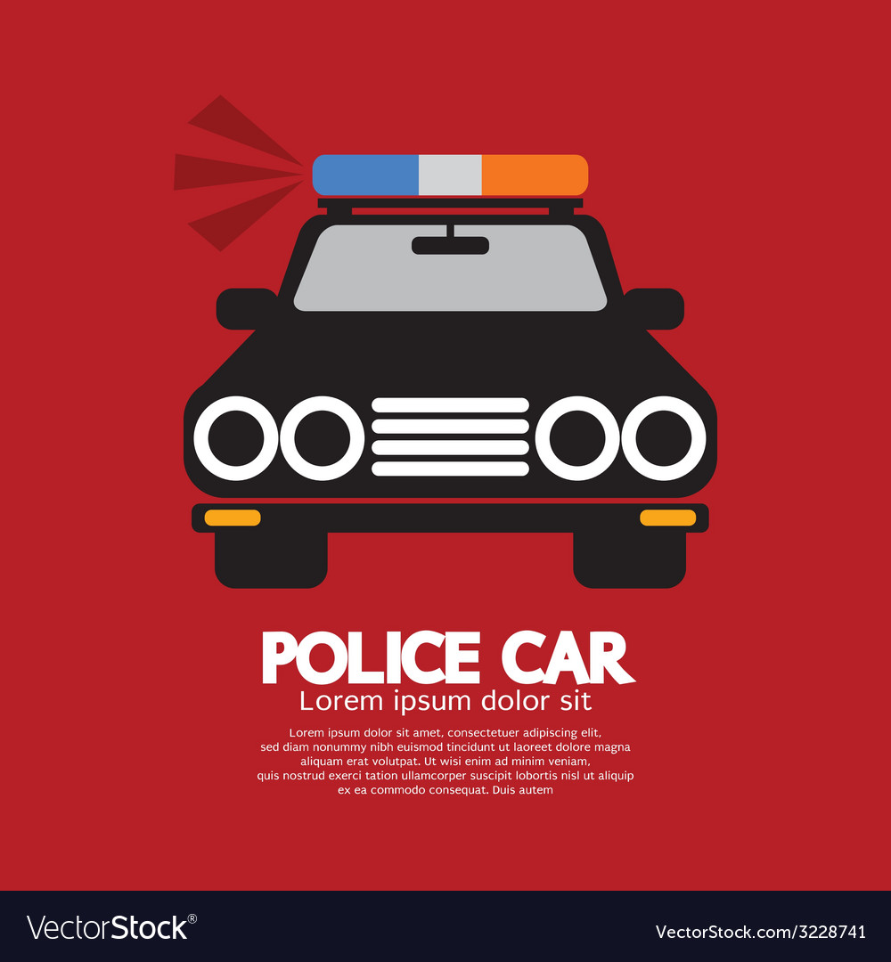 Front view of police car vector | Price: 1 Credit (USD $1)