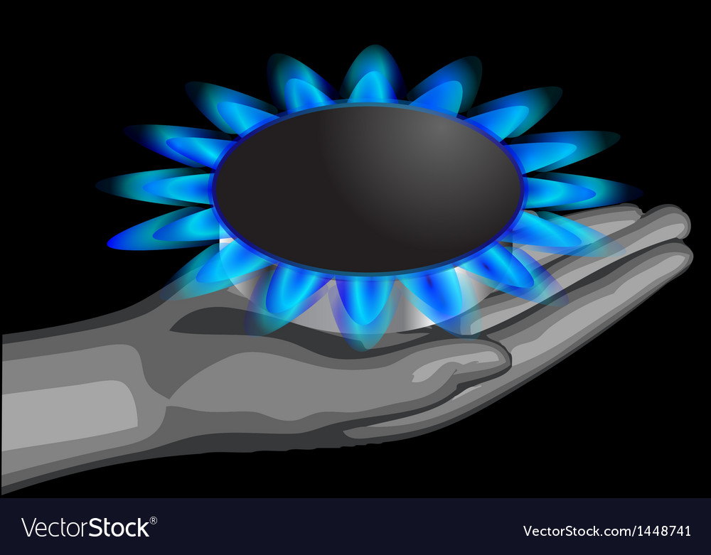Gas on the palm vector | Price: 1 Credit (USD $1)